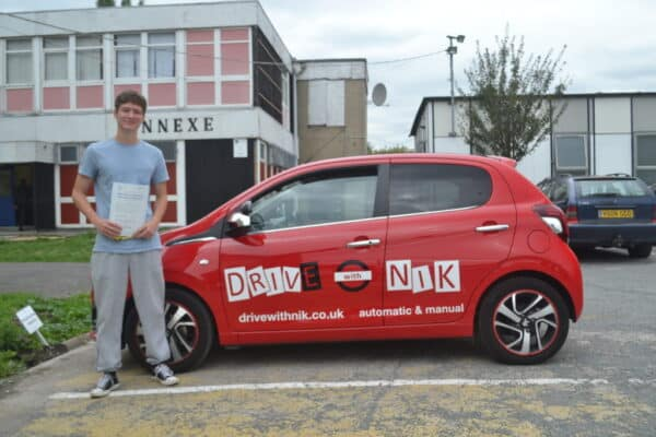 Driving Lessons Bounds Green. Alexander passed his manual driving test first time with Drive with Nik.