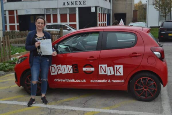 Driving Lessons New Southgate. Ania passed 1st time.