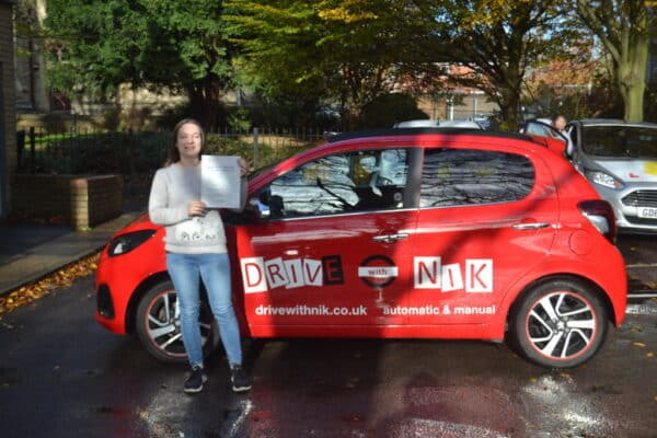 Driving Lessons Muswell Hill. Jana passed first time with Drive with Nik.