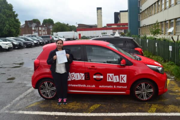 Driving Lessons East Finchley. Neeta passed her driving test with Drive with Nik.