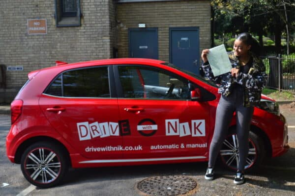 Driving Lessons Edmonton. Chanelle passed her driving test first time with Drive with Nik.