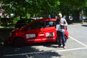 Automatic Driving Lessons Crouch End. Ben passed his driving test first time with Drive with Nik.