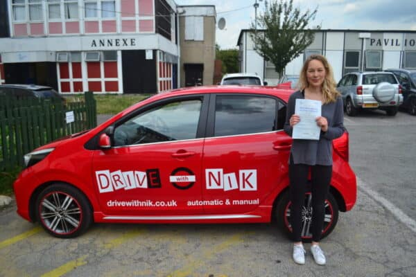 Driving Lessons Muswell Hill. Clem passed her driving test with Drive with Nik.