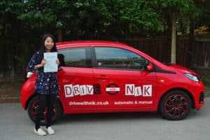 Automatic Driving Lessons Muswell Hill. Mattaya passed her driving test first time with Drive with Nik.