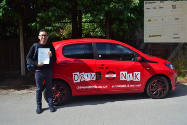 Automatic Driving Lessons Muswell Hill. Ian passed his driving test first time with Drive with Nik.