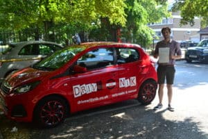 Automatic Driving Lessons Wood Green. Matthew passed first time with Drive with Nik.
