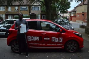 Driving Lessons Wood Green. Ajani passed at the first attempt with Drive with Nik.
