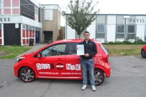 Driving Lessons East Finchley. Bipin passed his driving test at the first attempt with Drive with Nik.