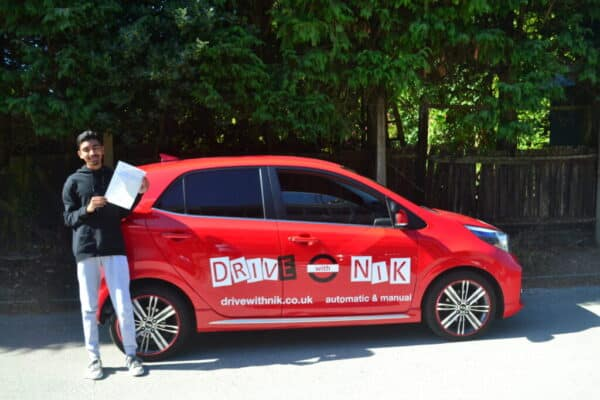 Driving Lessons Southgate. Luke passed his driving test with Drive with Nik.