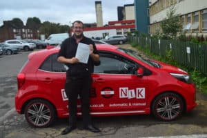 Manual Driving Lessons Crouch End. Dave passed his practical driving test with Drive with Nik.