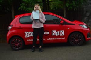 Automatic Driving Lessons Barnet. Morgan passed her practical driving test with Drive with Nik.
