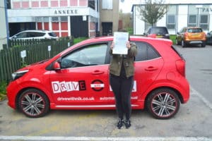 Driving Lessons Bounds Green. Morgane passed her driving test with Drive with Nik.
