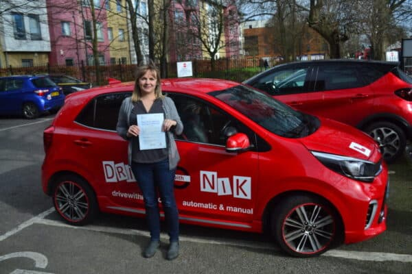 Driving Lessons Winchmore Hill. Karolina passed her diving test first time with Drive with Nik.
