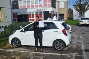 Automatic Driving Lessons Palmers Green. Sarah passed her driving test first time with Drive with Nik.