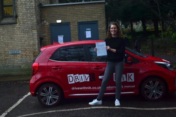 Driving Lessons North London. Leila passed 1st time