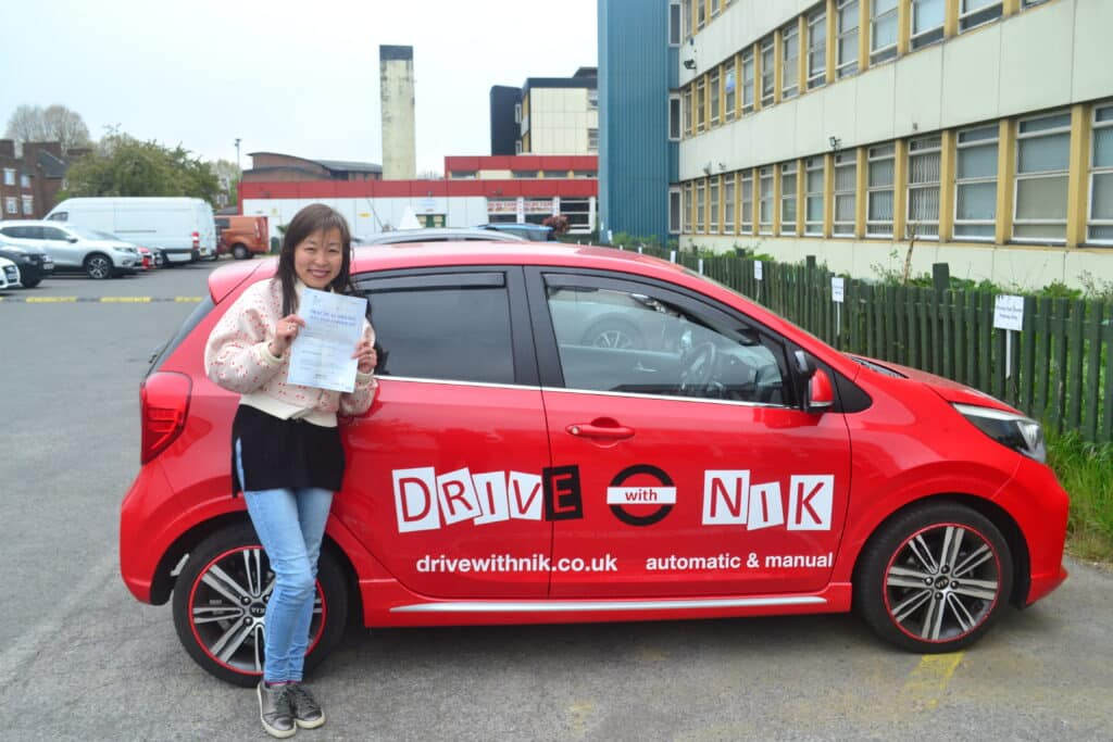 Driving Lessons North London. Yiru passed her practical driving test with Drive with Nik.
