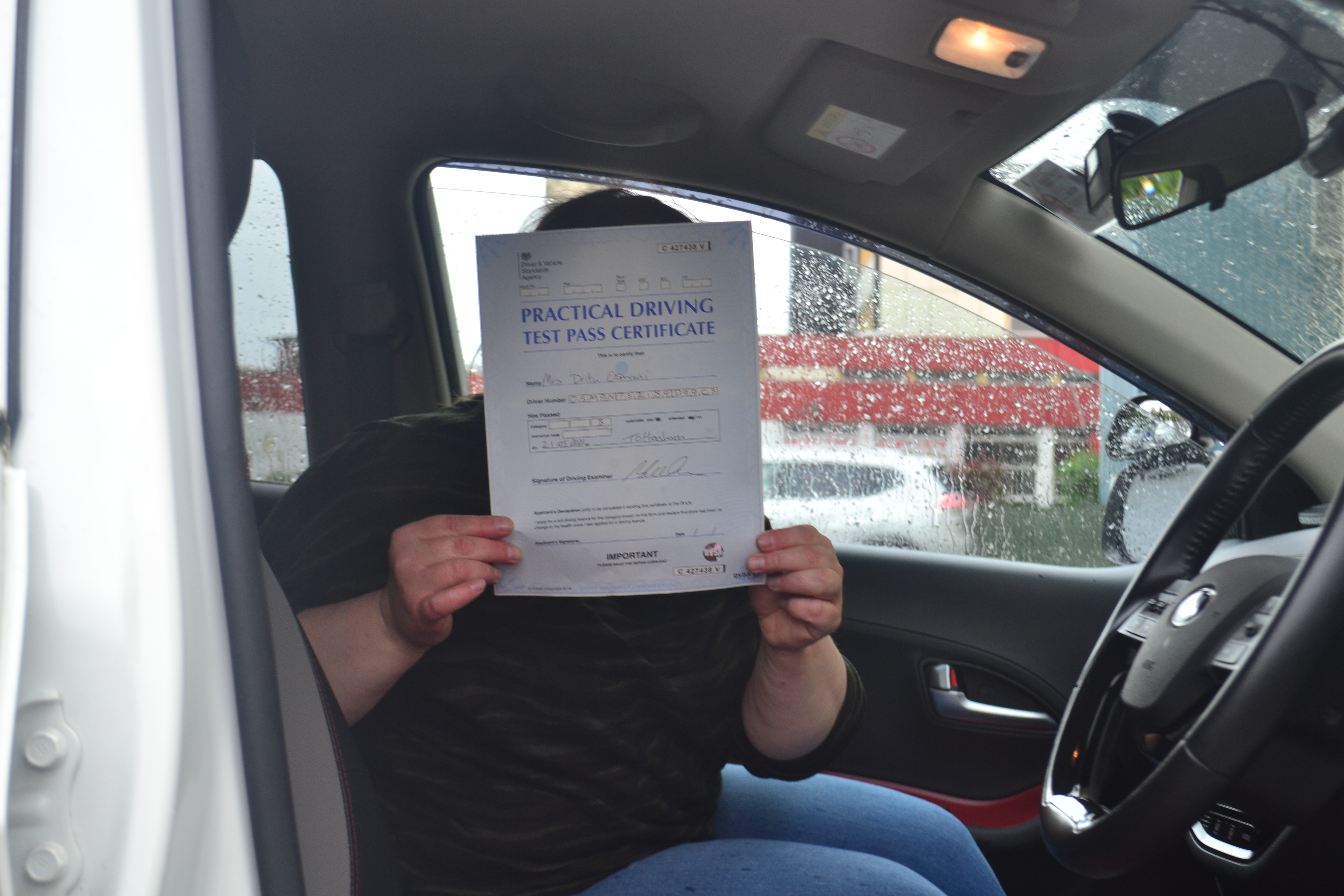 Automatic Driving Lessons Southgate. Drita passed.
