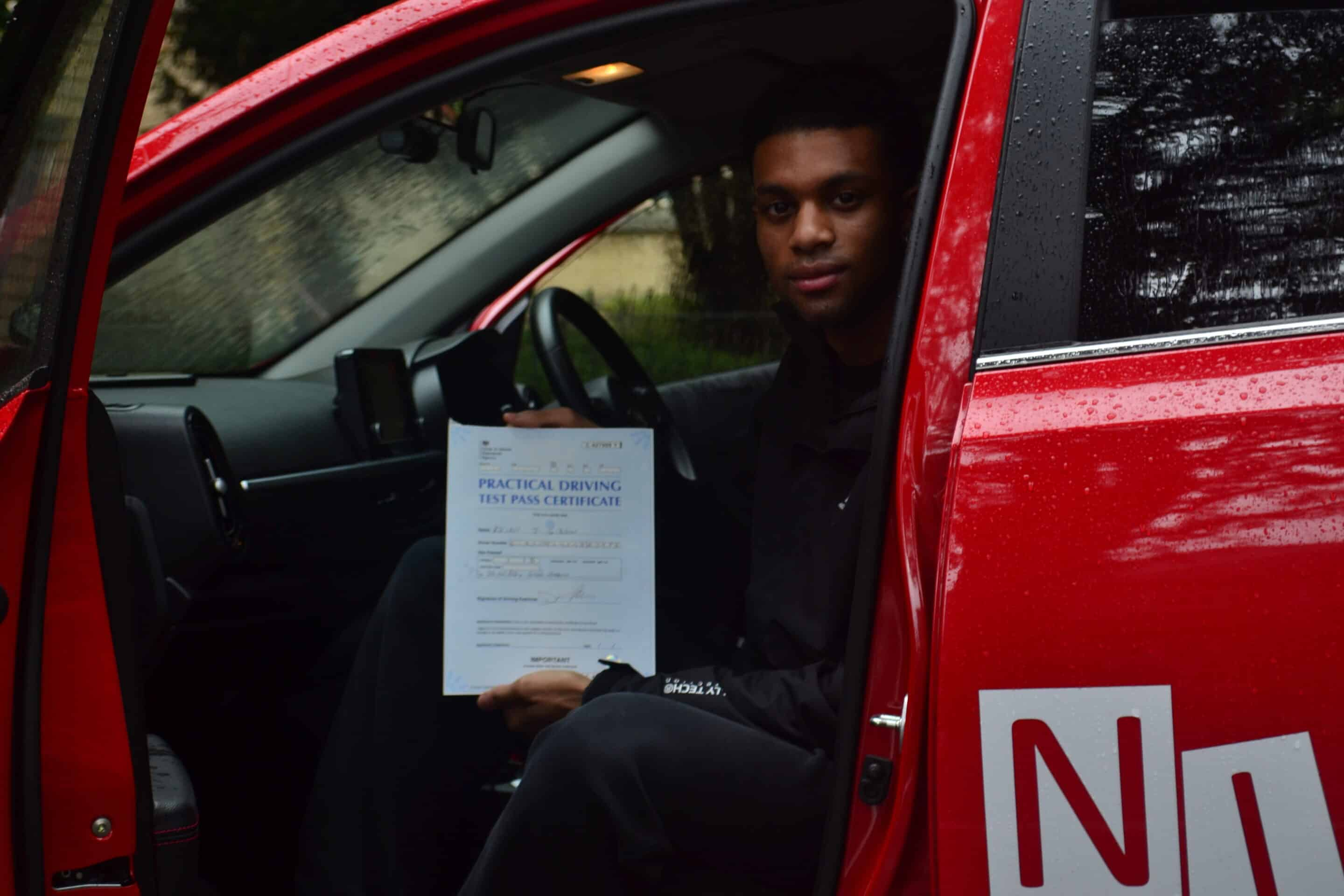Driving Lessons North London. Khian passed.