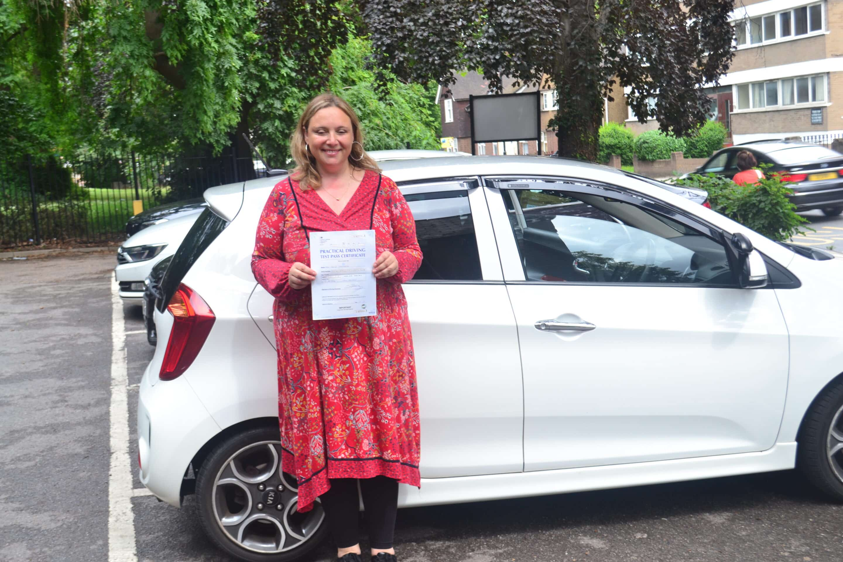 Automatic Driving Lessons Palmers Green. Paula passed 1st time.