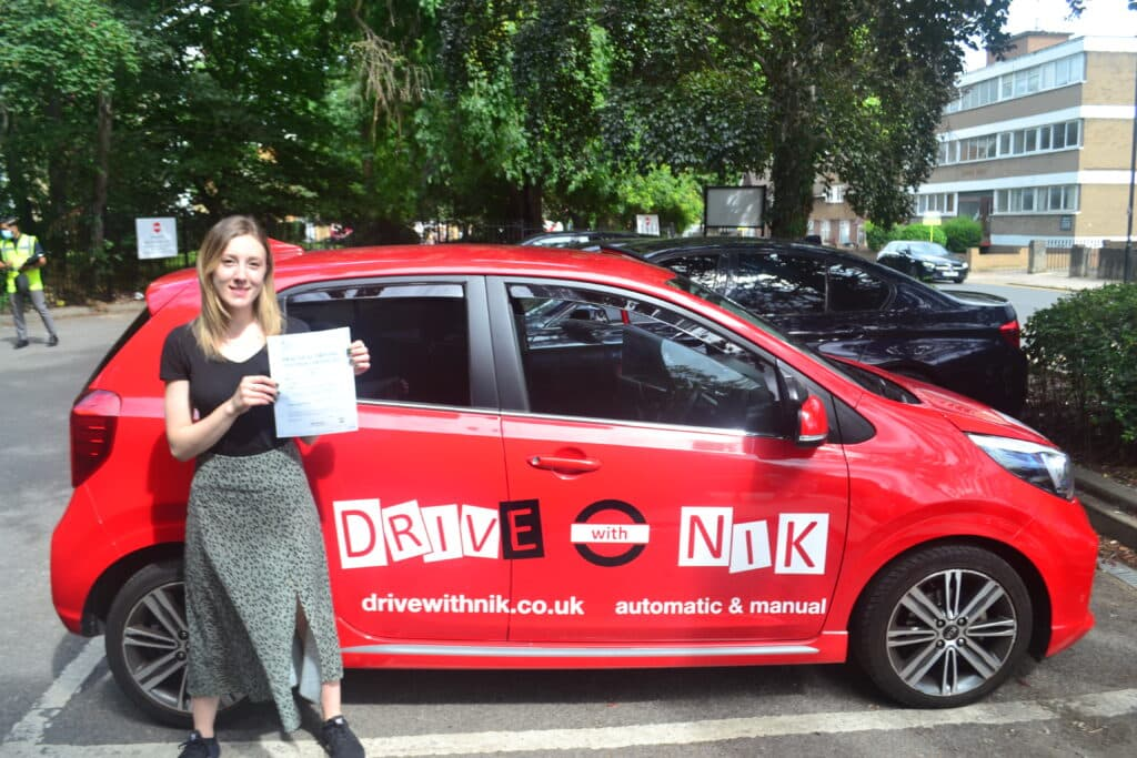 Manual Driving Lessons North London. Shona passed her practical driving test at the first attempt with Drive with Nik.
